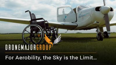 larger size image for aerobility press release on drones for good