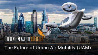 urban air mobility banner ad the future of drones
