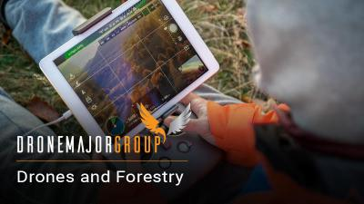 applications of drones in forestry including flight and also mapping sensors and monitoring